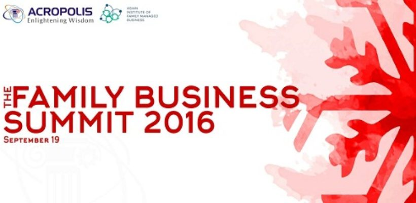 Family Business Summit 2016 – 19th September 2016, 10:30 am – 3:00 pm